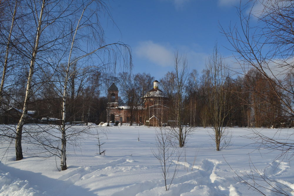 зима, храм, goldenberg art