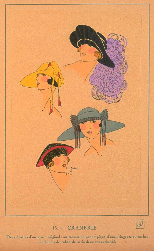 Ах, какие шляпки! Шляпная мода 1922 года по версии французского журнала «Les chapeaux du Tres parisien». Часть 2, фото № 15