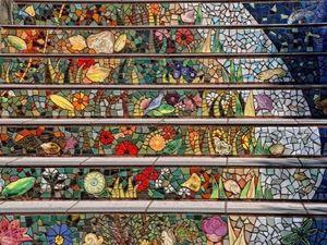 Необычное оформление городских лестниц. Ярмарка Мастеров - ручная работа, handmade.