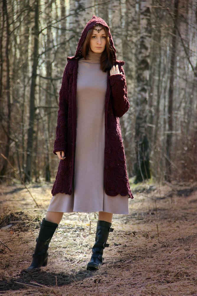 вязаное пальто, пальто со скидкой, бохо пальто, распродажа