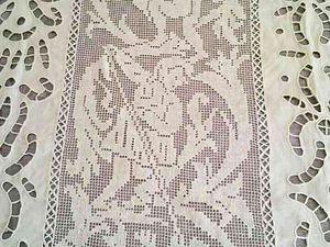Вышитая скатерть ручной работы   Ярмарка Мастеров - ручная работа, handmade