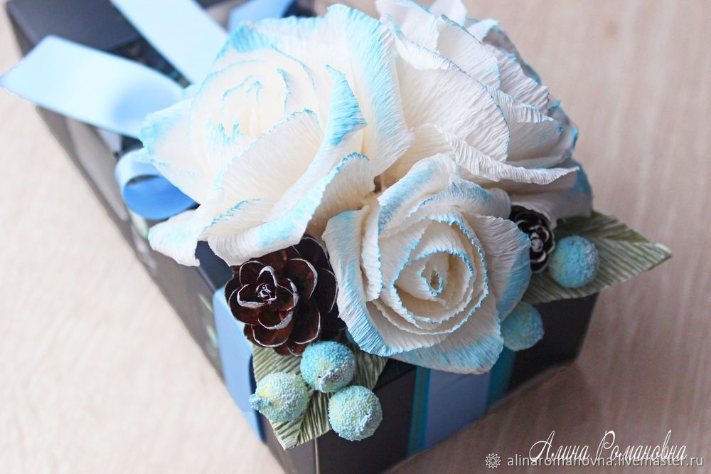 украшение коробки конфет, новогодний подарок