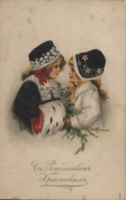 Старинные рождественские открытки: 35 трогательных изображений, фото № 28