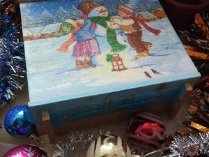 Мои две шкатулки участвуют в конкурсе Новогодний подарок 2018. Ярмарка Мастеров - ручная работа, handmade.