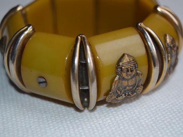Бакелитовый винтажный браслет в восточном стиле.   Ярмарка Мастеров - ручная работа, handmade