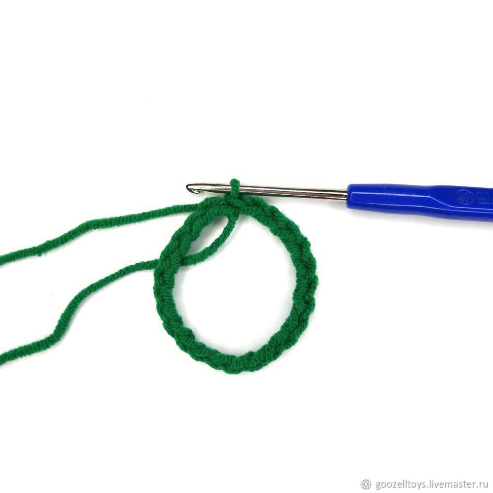 вязание игрушек, ёлочка крючком