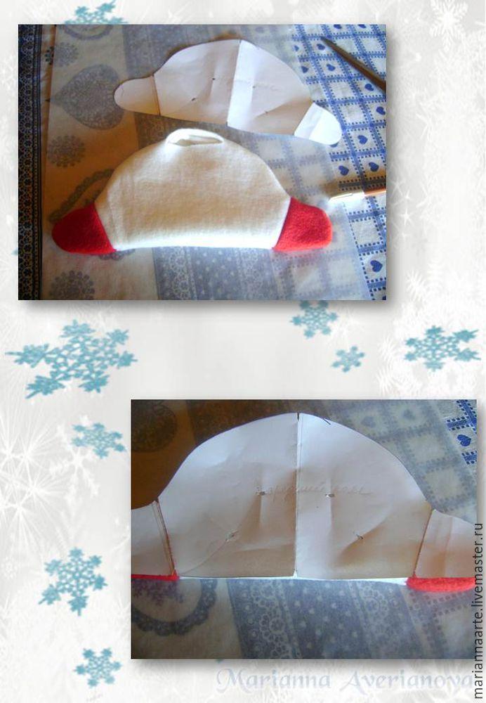 Мастер-класс по созданию забавной новогодней игрушки «Снеговичок-тюфячок», фото № 9