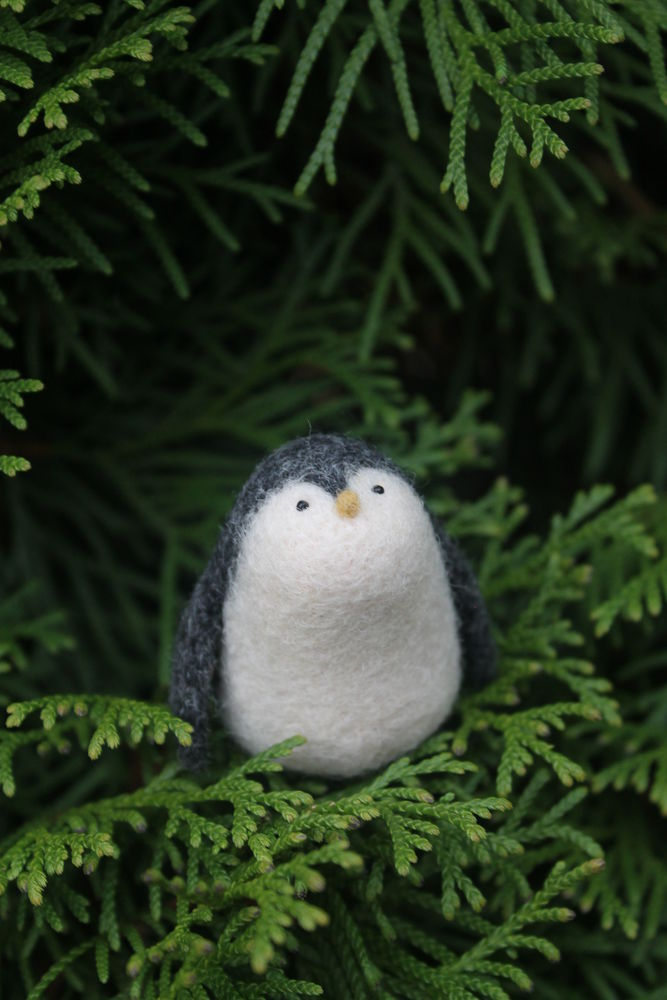 шерсть, подарок, мастер-класс по валянию, обучение, валяние игрушки, валяние миниатюры, валяние для новичков, пингвин