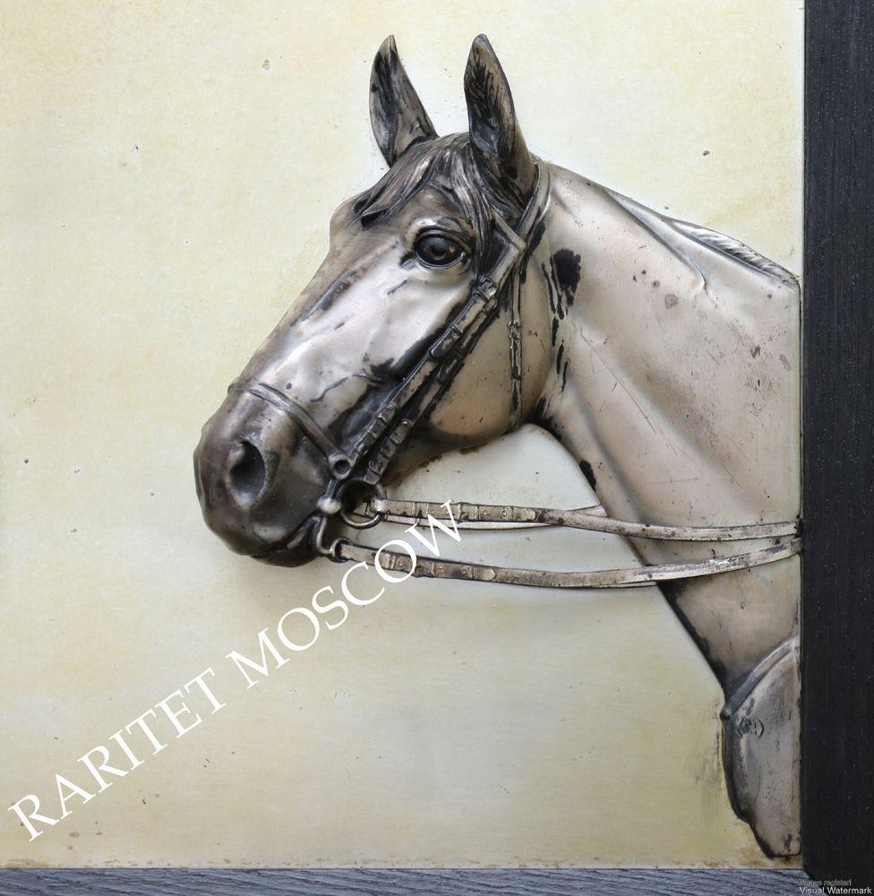 Картина панно конь лошадь серебрение Германия 7, фото № 8