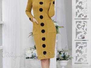 Аукцион на стильное вязаное  платьице!!!Старт 2000 р.!!!. Ярмарка Мастеров - ручная работа, handmade.