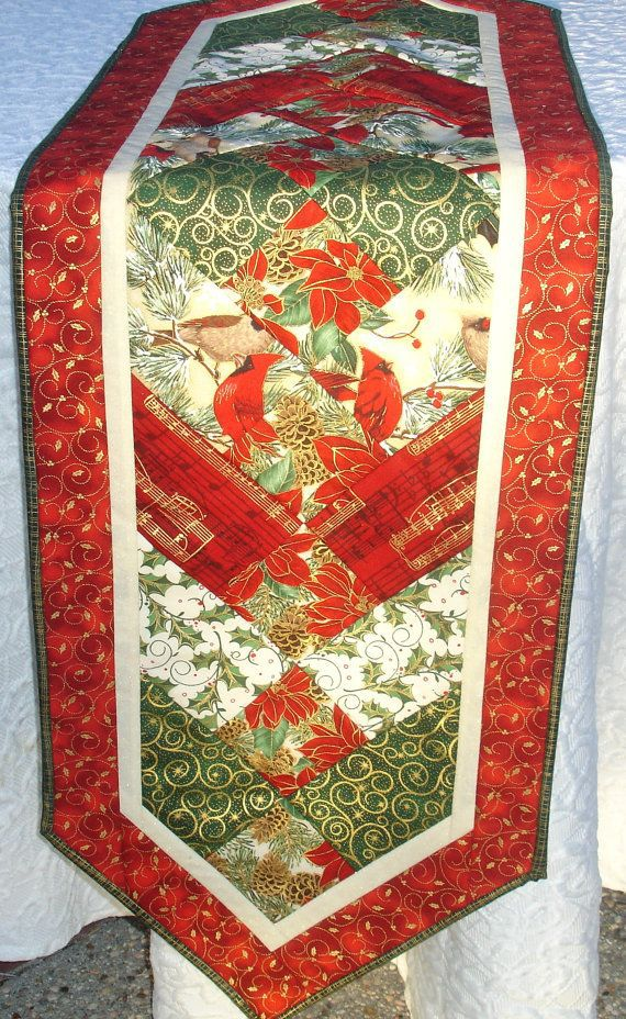 Christmas Table Runner Quilt by KeriQuilts.com