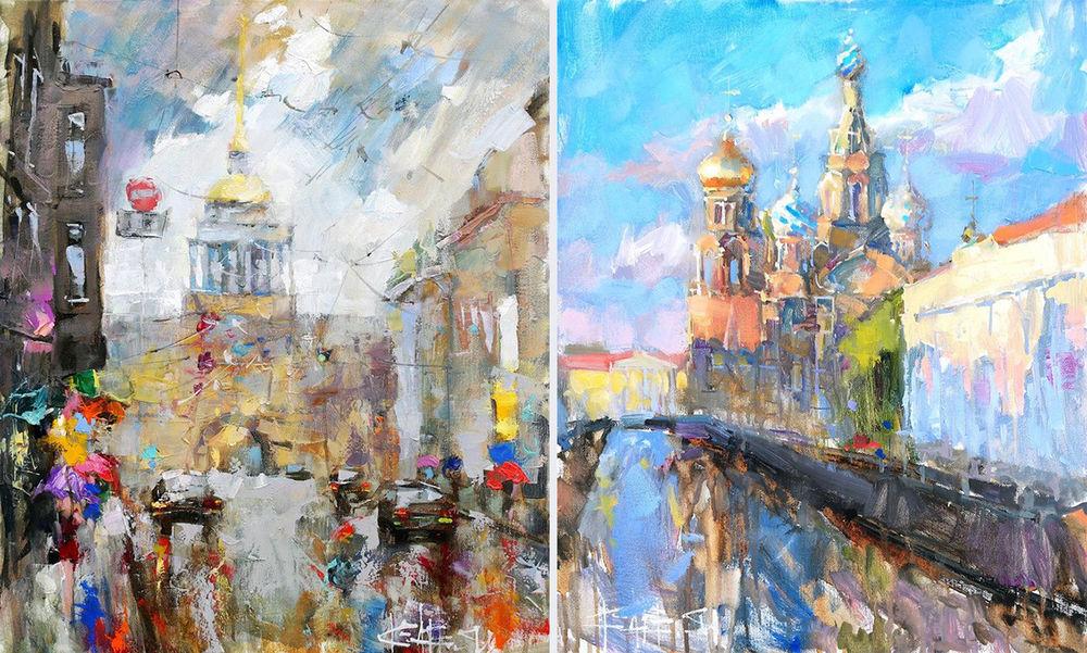 Konstantin Sukhopluev: Artist Painting Rain, фото № 13