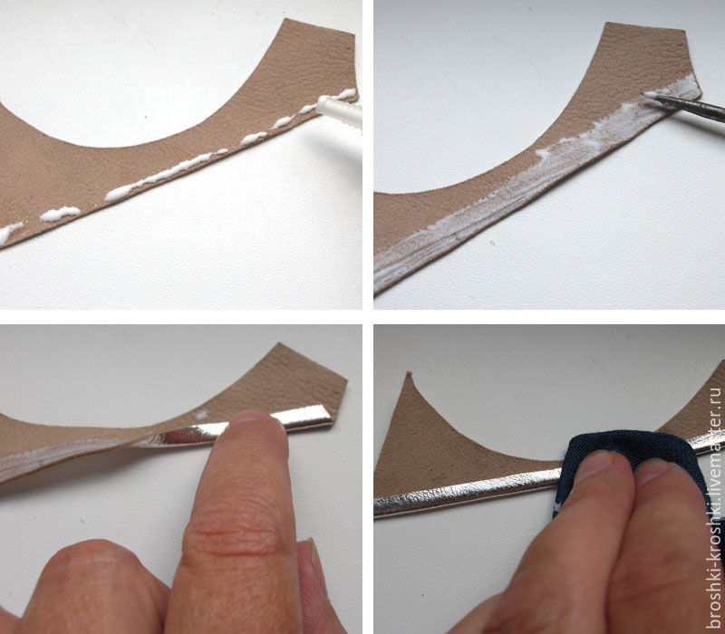 Делаем синичку в витражной технике из кожи, фото № 5