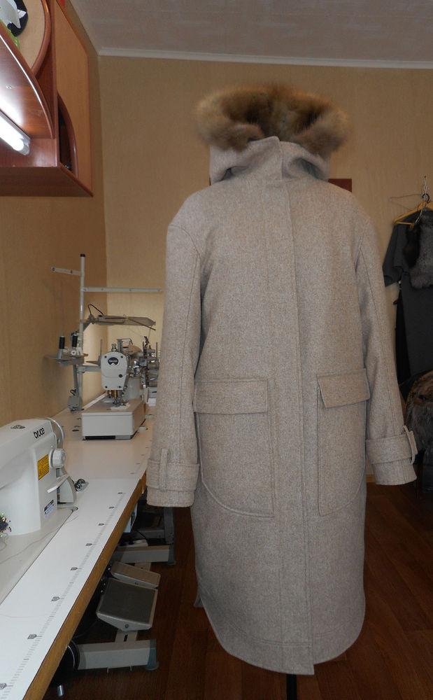 пальто с мехом соболя