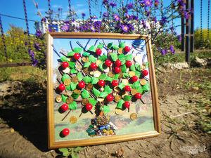 """Панно """"Древо жизни и достатка в 3D"""" (Яблоня). Ярмарка Мастеров - ручная работа, handmade."""
