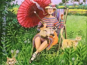 Зарядитесь позитивом: жизнелюбивые картины английской художницы Stephanie Lambourne. Ярмарка Мастеров - ручная работа, handmade.