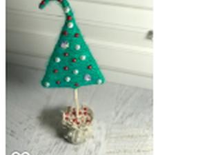 Декорируем небольшую новогоднюю елочку. Ярмарка Мастеров - ручная работа, handmade.
