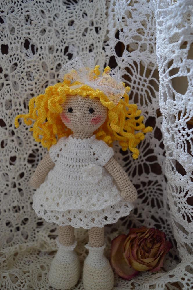 кукла, вязаная кукла