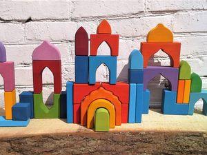 Конструктор Цветные домики. Ярмарка Мастеров - ручная работа, handmade.