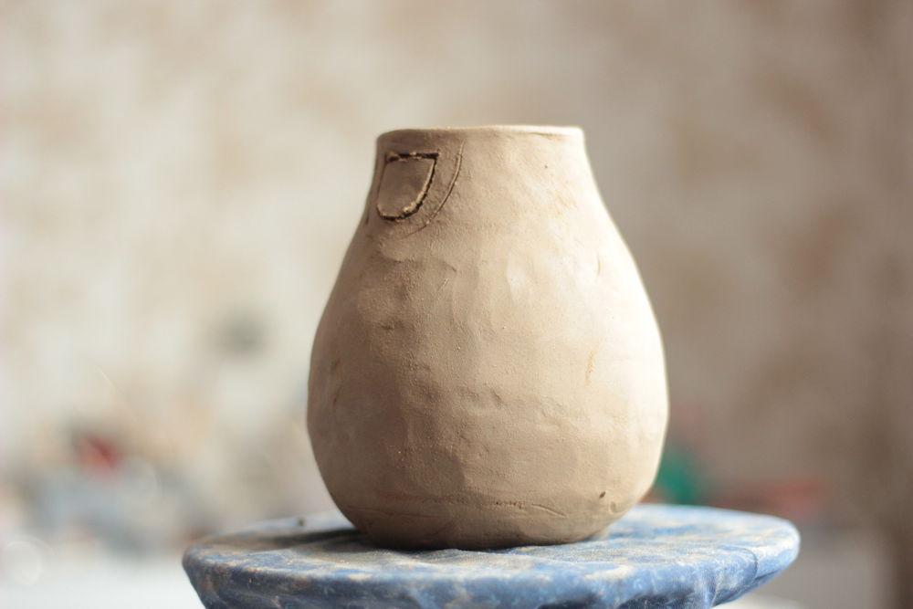 керамика ручной работы, процесс работы, глиняная посуда
