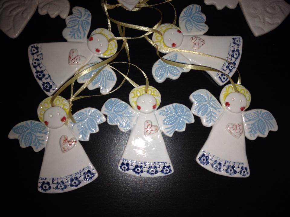 мастер-класс по лепке, обучение, лепка, керамика, подарок своими руками, тарелка, новогодние игрушки, ёлочные украшения, ангелы