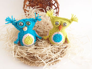 Crocheting a Charming Little Owlet with Tassels on Ears. Livemaster - handmade