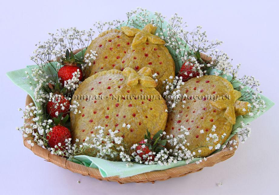печенье с клубникой, печенье с начинкой, клубника, рецепт печенья с начинкой, ягоды, рецепт от красотули, печенье в корзинке