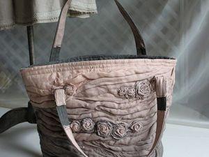 Дополнительные фотографии розово-серой текстильной сумки. Ярмарка Мастеров - ручная работа, handmade.