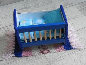 Интерактивная игра «Дочки-матери». Кроватка для сыночка. Часть 5. Ярмарка Мастеров - ручная работа, handmade.