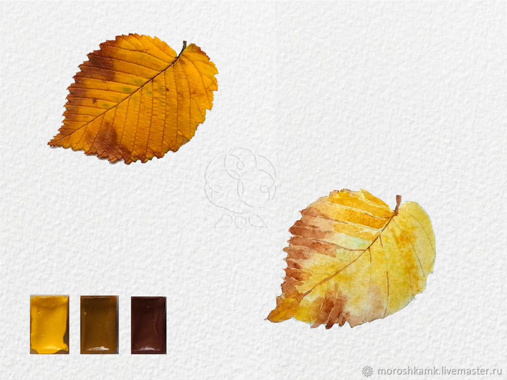 Drawing an Autumn Leaf with Watercolours, фото № 12