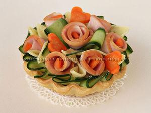 Закусочные Корзиночки на День Святого Валентина | Ярмарка Мастеров - ручная работа, handmade