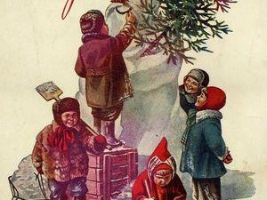 Новогодний антураж в картинах советских художников. Ярмарка Мастеров - ручная работа, handmade.