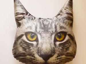 Новая подушка в моем магазине - кот Мейн-Кун! Подарок любителю кошек). Ярмарка Мастеров - ручная работа, handmade.