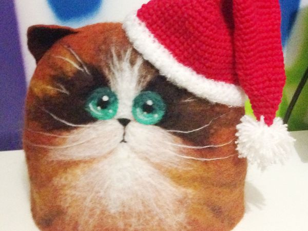Новинка Котик Новогодний | Ярмарка Мастеров - ручная работа, handmade