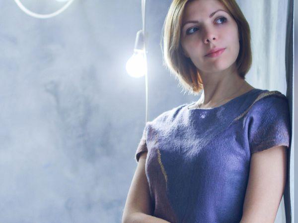Рабочий МК Нуновойлочное платье | Ярмарка Мастеров - ручная работа, handmade