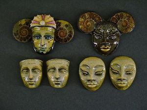 Барельефы - лица - маски - кабошоны. Ярмарка Мастеров - ручная работа, handmade.