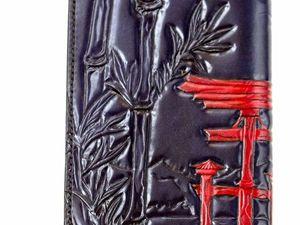 Японская тема. Кошелек-тревелер. Ярмарка Мастеров - ручная работа, handmade.