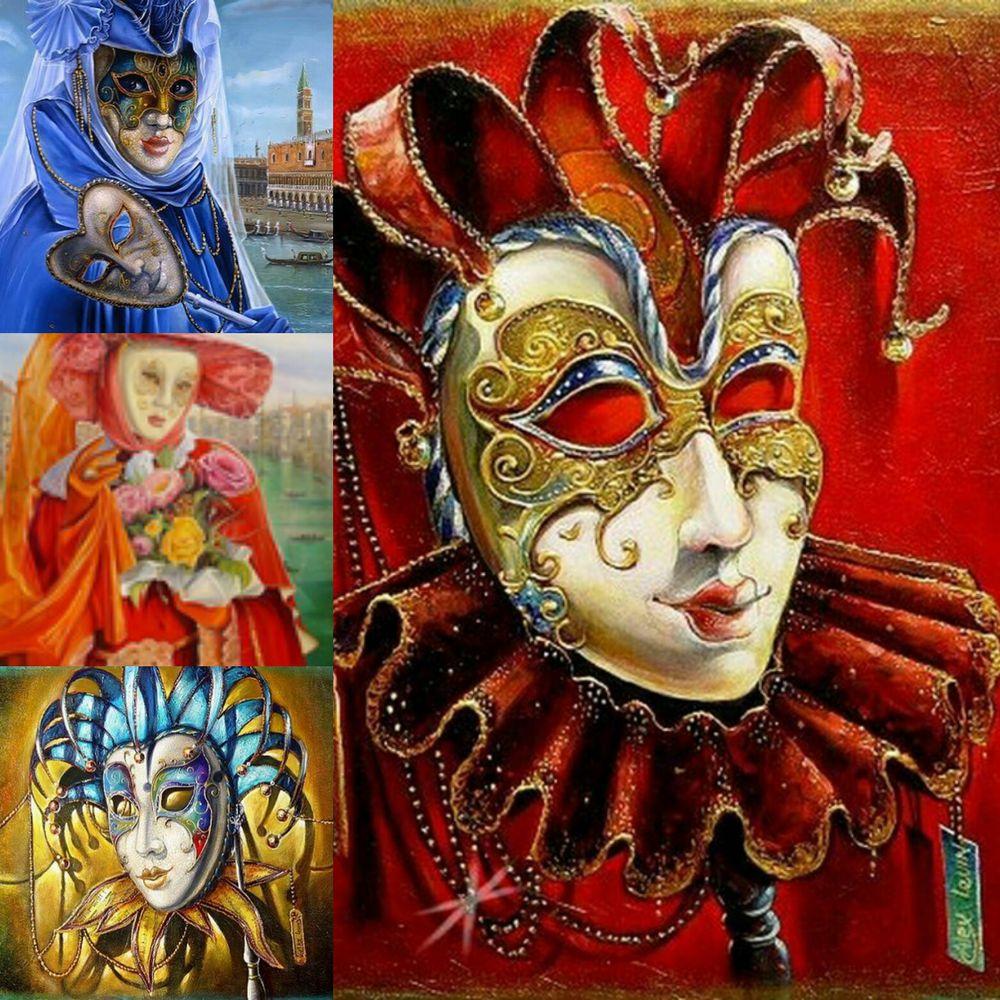 алмазная мозаика, венецианская маска