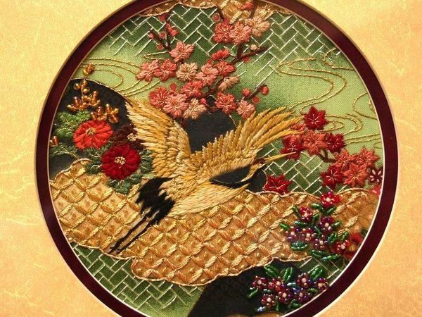 Японская вышивка шелком от Margaret Lee | Ярмарка Мастеров - ручная работа, handmade
