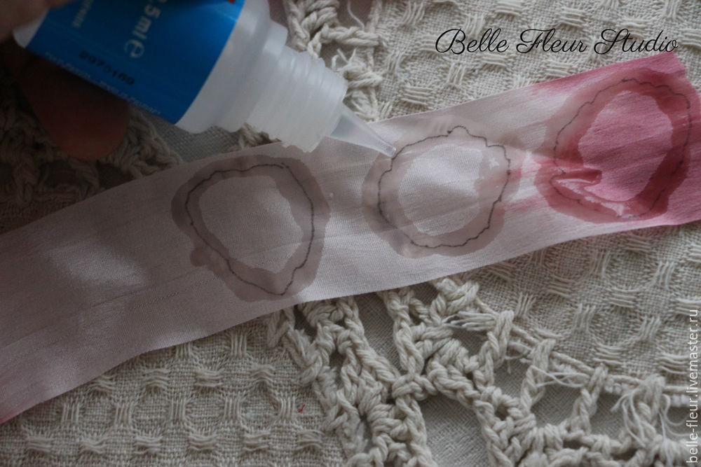 детали, изготовление цветов, объёмная вышивка