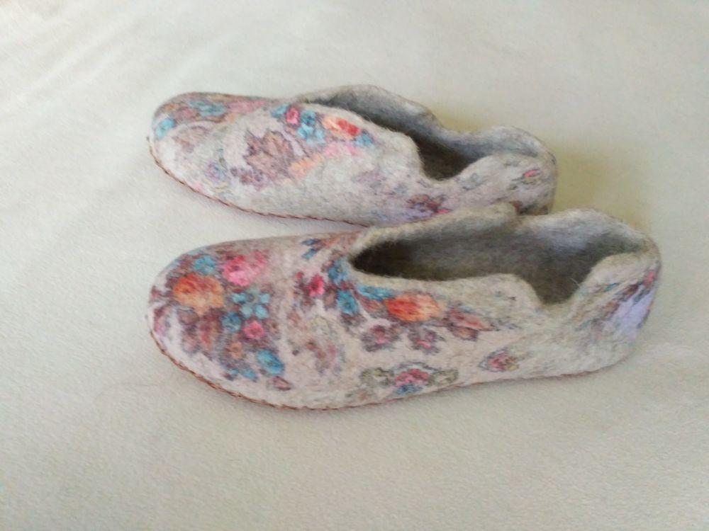 мастер-класс по валянию, валяние на шаблоне, мокрое валяние, тапочки, обувь ручной работы