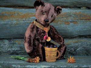 Шоколадно-вишнёвый мишка. Ярмарка Мастеров - ручная работа, handmade.