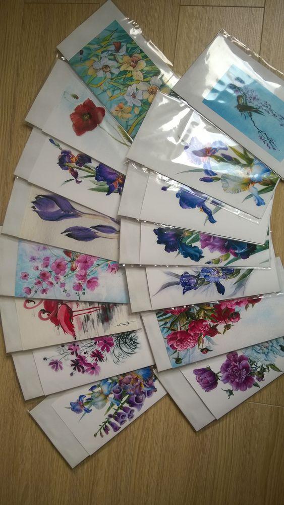 евро формат, открытки с цветами, акварель, ирисы, бабочка, подарок на день рождения, подарок на любой случай