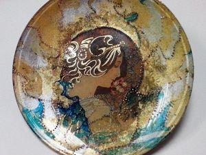 Новинка! Онлайн МК «Декор тарелки. Марморирование и золочение.» | Ярмарка Мастеров - ручная работа, handmade
