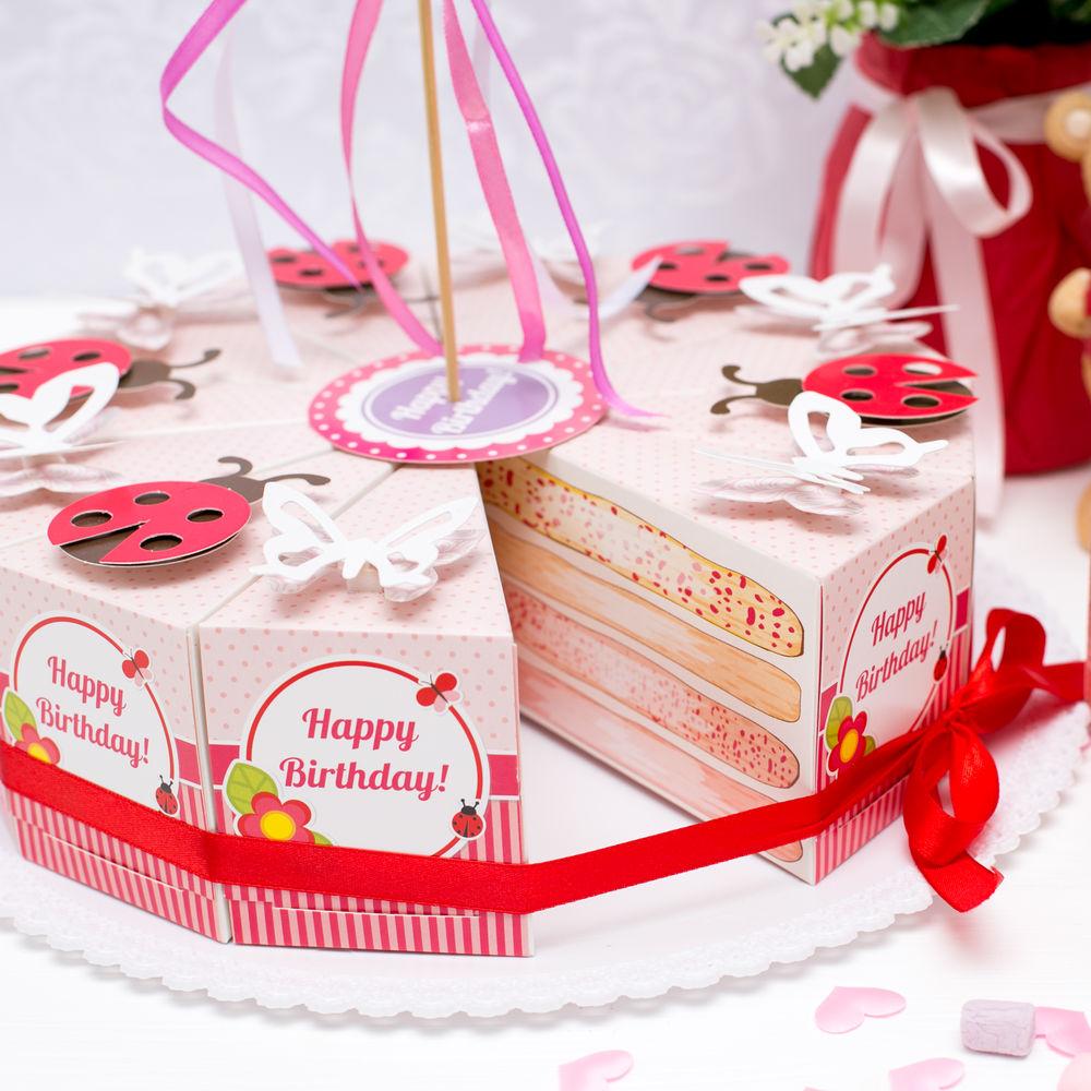 Торт из бумаги и картона с пожеланиями и сюрпризом своими 20