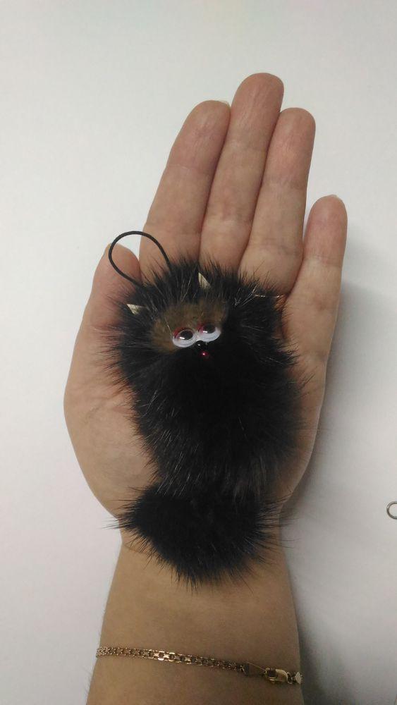 котик, коты и кошки, котята, меховой, подвеска, подвеска на сумку, брелок на ключи
