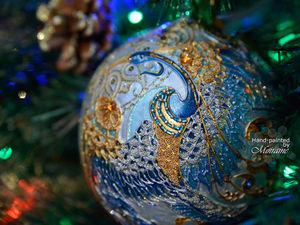 """Коллекционный елочный шар """"Синяя птица"""". Видео и дополнительные фото. Ярмарка Мастеров - ручная работа, handmade."""
