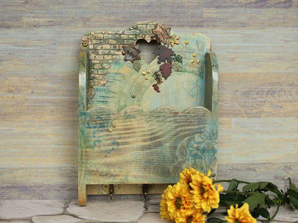 Делаем ключницу «Время. Осень»   Ярмарка Мастеров - ручная работа, handmade