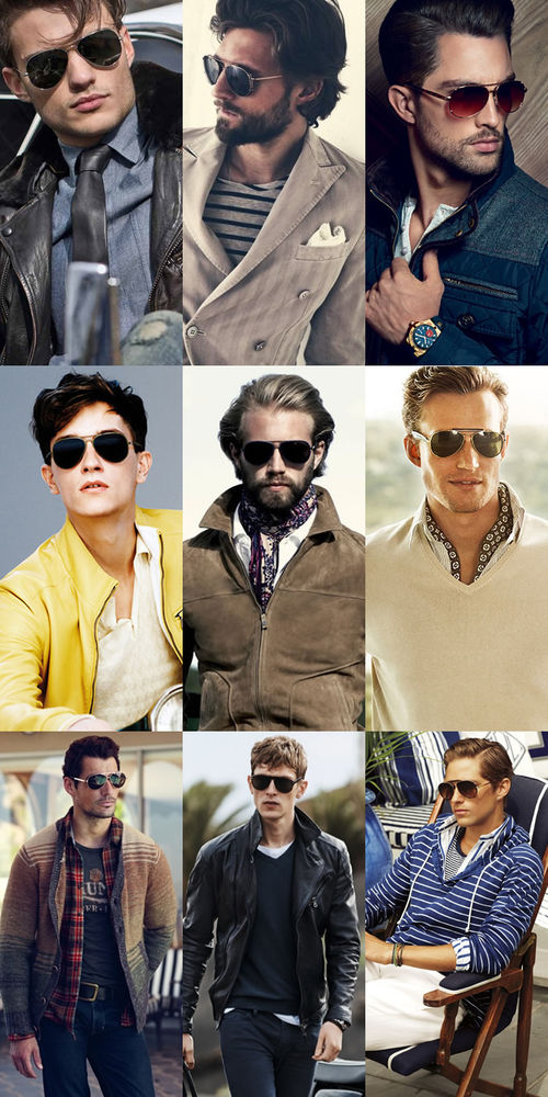Men's Aviator Sunglasses Lookbook