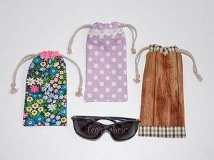 Шьем мягкий чехол-мешочек для очков легко и просто. Ярмарка Мастеров - ручная работа, handmade.